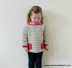Free Crochet Sweater Patterns Mesmerizing MINI KIDS POCKET SWEATER FREE CROCHET PATTERN Wool And Stitch