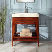 30 inch bathroom vanity with open shelf. bathroom. brown stained wooden bath vanity trough sink with open shelf for towel storage and 30 inch bathroom a