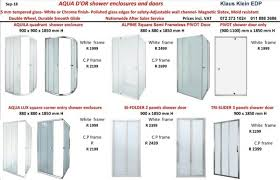 quality semi frameless shower enclosures pivot showers and shower doors