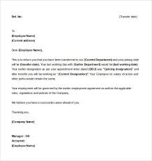 Best Ideas Of An Example Of A Job Transfer Letter Letter Of Intent
