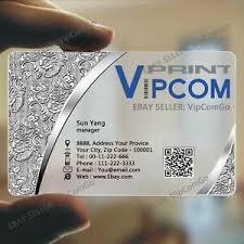 Translucent Plastic Business Cards Details About 500 Transparent Pvc Plastic Business Cards Printing Translucent Name Card Print