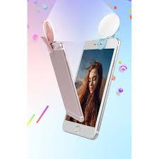 Đèn Led Tròn Kẹp Điện Thoại Hỗ Trợ Selfie Cho Iphone Xr Xs Max X 8 7 6s 6  Plus Samsung S10 S9 S8 - Móc dán đỡ điện thoại Nhãn hàng