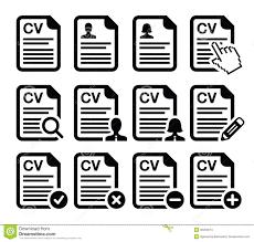 Resume Icons CV Curriculum Vitae Resume Icons Set Stock Illustration 61