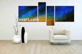 living room decor 4 piece canvas wall art abstract huge pictures abstract huge on 4 piece canvas wall art with 4 piece abstract blue oil paintings canvas wall art