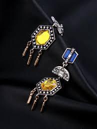 noble colorful stones women drop chandelier earring