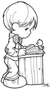 Small Picture Coloring Pages precious moments Precious moments Pinterest