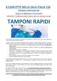 Tamponi rapidi: 7 gennaio 2021 - Comune di Caselette