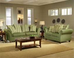Small Formal Living Room Green Sofa Set With Wooden Coffee Table For Formal Living Room
