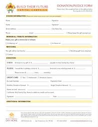 Luxury Pledge Card Template Best Sample Excellent Recommendation Org