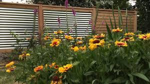 corrugated metal fence panels. Horizontal Cedar Fence With Corrugated Steel Panels Metal