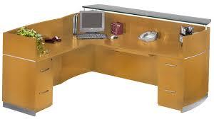 reception office desks. Napoli L-Shaped Reception Desk With 2 FF Pedestals Magnifier Office Desks