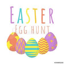 easter egg hunt template happy easter background easter egg hunt template vector