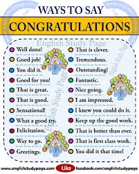 Another Word For Congratulations Other Ways To Say Congratulations In English English Study Page