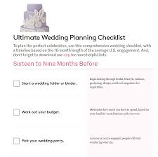 Blank Wedding Planning Checklist 11 Free Printable Wedding Planning Checklists