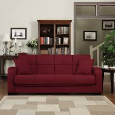 handy living turco convert a couch crimson red microfiber futon sofa sleeper com