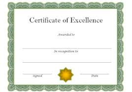 Certificate Of Excellence Template Word Certificate of Excellence 100 The Best Template Collection 32