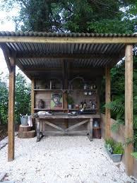 rustic outdoor kitchen bars