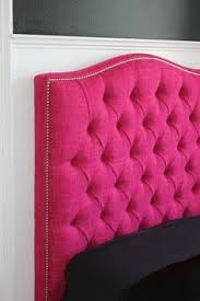 hot pink tufted headboard....wonder if my boyfriend would go for this