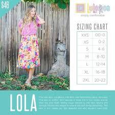 Lola Skirt Size Chart Lularoe Size Chart Lola Bedowntowndaytona Com