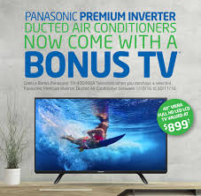 air conditioning brisbane prices. panasonic premium inverter ducted air conditioners now come with a bonus tv every system air conditioning brisbane prices