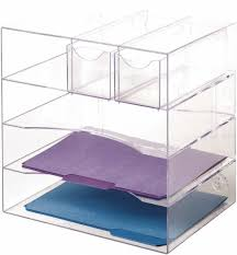 rubbermaid plstc clear desktop organizer 94600ros