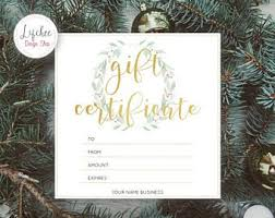 christmas gift card templates christmas gift certificate etsy