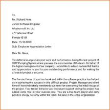Appreciation Letter Employee For Outstanding Performance 7 Good Work