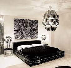 black and white bedroom accessories. Beautiful White Contemporary Black And White Bedroom With Shiny Silver Chandelier  Painting Above The Headboard Which Throughout Black And White Bedroom Accessories S