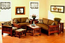 garage delightful wooden sofa set for small living room 3 simple sets with regard to size