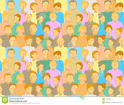 People Pattern Adorable Pattern With People Stock Illustration Illustration Of People
