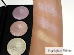 makeup revolution baked highlighter pink lights highlighter palette highlight highlighter palette palettes review