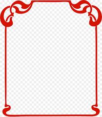 Red Photo Frames Picture Frames Art Clip Art Red Frame Png Download 1868 2153