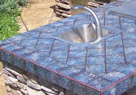 outdoor kitchen countertops sacramento throughout tile countertop ideas 23