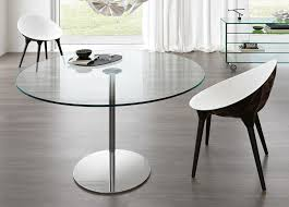 Round glass dining table 90cm Tonelli Farniente Round Dining Table Trespasaloncom Tonelli Farniente Round Glass Table Round Glass Dining Tables