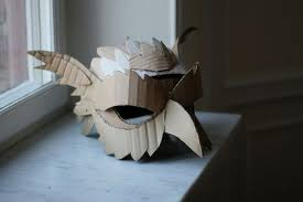 Cardboard Masks To Decorate Mask Making with cardboard Saturday Oct 60 60pm 60pm CAM 9