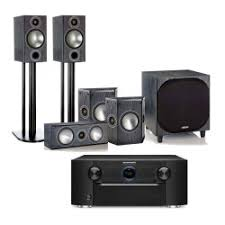 kef t305. marantz sr7011 with monitor audio bronze 2 av speakers kef t305