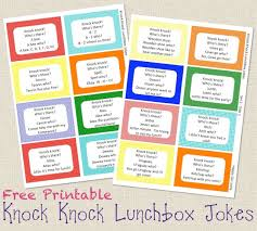 Small Picture Knock Knock Jokes Lunch Box Notes Free Printable Knock knock