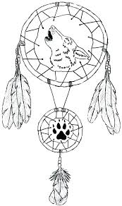 Native Dream Catchers Drawings dream catcher coloring pages rawtodoor 54