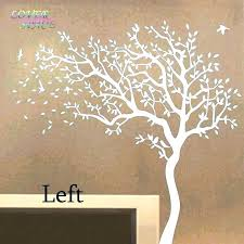 white tree wall decal for nursery tree wall decal for nursery art decals trees huge white