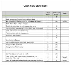Template For Statement Of Cash Flows Free 13 Sample Cash Flow Statements In Pdf Word