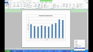 Making A Weather Graph Using Microsoft Excel