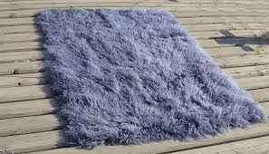 4 x 6 tibetan mongolian lamb fur rug metallic grey contemporary area rugs by curly fur imports