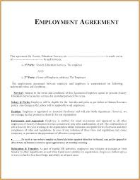 Job Contract Employment Template Doc Temporary Employee