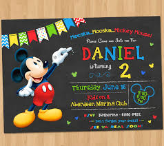 mickey mouse party invitation mickey mouse party invitation
