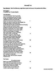 best beowulf lesson plans and activities for success images  beowulf skills application test