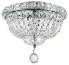 empire 4 light chrome finish 10 crystal flush mount ceiling light