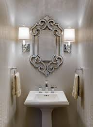 powder room bathroom lighting. design connection inc a light reflective silver metallic snakeskin wallpaper powder room bathroom lighting n