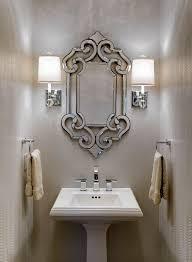 powder room lighting ideas. Design Connection Inc A Light Reflective Silver Metallic Snakeskin Wallpaper Powder Room Lighting Ideas E