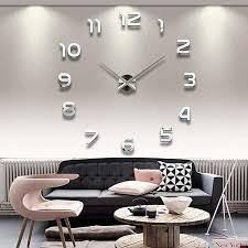 generic diy 3d wall clock large size mirrors surface home decoration luxury art clock