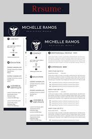 Modern Executive Resume Template Nurse Resume Cv Template Medical Cover Letter Mac Pc